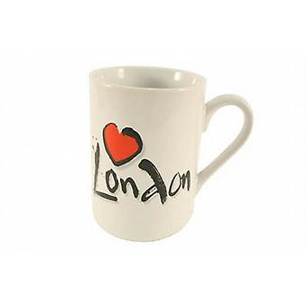1 porselein drank koffie mok - Love London Logo