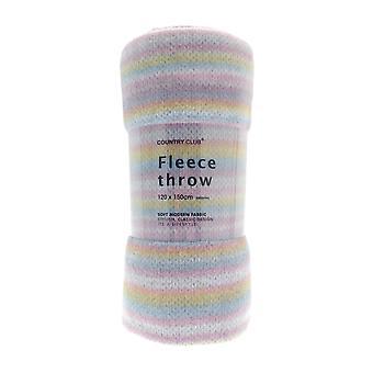 Country Club Fleece Throw gebreide Print, Multi-gekleurde