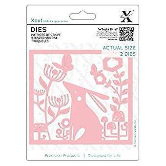 Xcut Dies Folk Rabbit (2pcs) (XCU 503126)