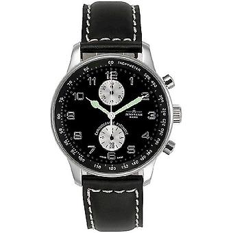 Zeno-watch X-large retro mens watch chronograph Bicompax P557BVD-d1