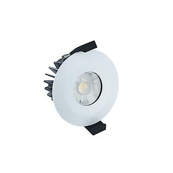 Integral - LED Low Profile IP65 Fire Rated Downlight Spotlight 6W 3000K 430lm Dimmable Matt White IP65 - ILDLFR70B001