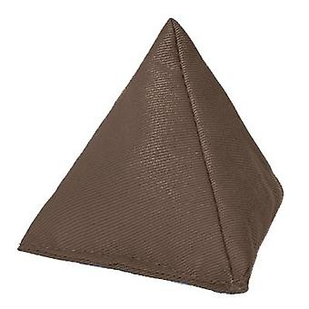 Brown algodón triangular malabarismo bolsa de frijoles para jugar al aire libre