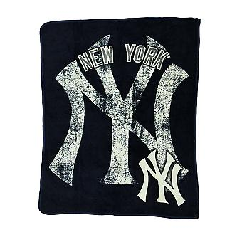 MLB New York Yankees Micro Raschel Plush Throw Blanket 46 x 60 inch
