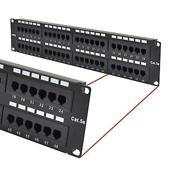 48 Ports UTP Patch Panel CAT5e RJ45 for 19