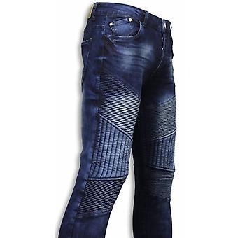 Exclusive Jeans-Slim Fit Biker Jeans All Ripped Biker-Blue
