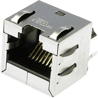 BEL Stewart Connectors SS-60300-014, Pin RJ45 Socket, vertical vertical Nickel-coated, Metal
