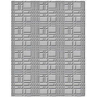 Spellbinders Embossing Folder Small-Gridiron SES003