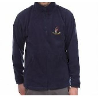 Scotland Navy Embroidered Piper Fleece Jacket