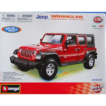 Burago Jeep Wrangler Unlimited Rubicon