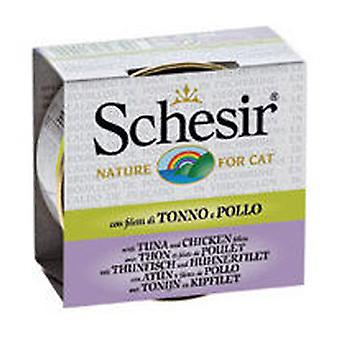 Schesir Tuna Fillets with Chicken Broth (Cats , Cat Food , Wet Food)