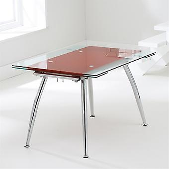 Mark Harris Roehampton Extending Red Glass Dining Table