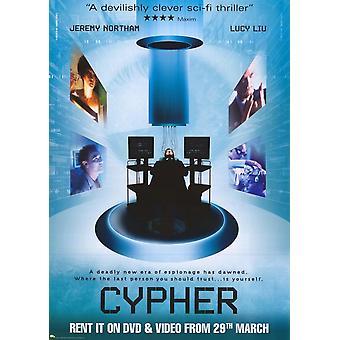 Cypher фильм плакат печать (27 x 40)
