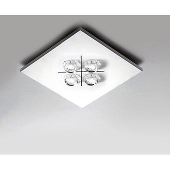 Milan White 4x4W led ceiling Square (Home , Lighting , Hanging lamps)