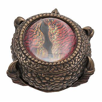 Bronze Finish Dragon Eye Trinket / Stash Box