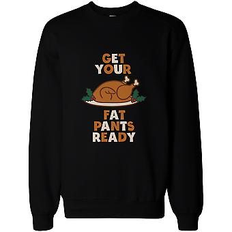 Get Your Fat Pants Ready Pullover Sweater - Funny Holiday Graphic Sweatshirt