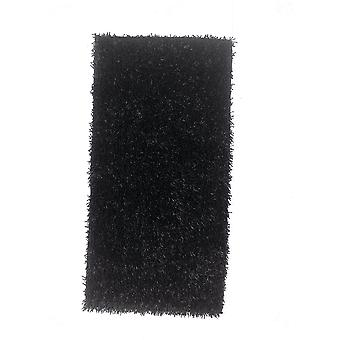 Black Spider Shaggy Rug Palmas