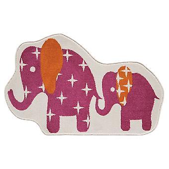 Piger Pink Nellie elefant soveværelse tæppe