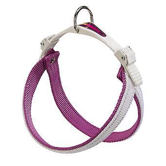 Agila doppia imbracatura di Nylon 6 colori viola/bianco 57-65cm