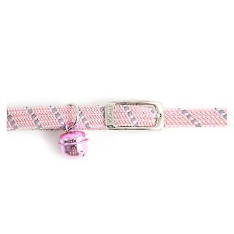 Säkerhet elastisk katt krage Softweave rosa (förpackning med 3)