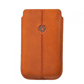 SAMSONITE DEZIR Mobile bag leather M Orange to tex iP5 Highway