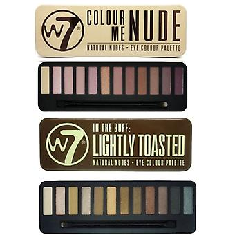 W7 Eyeshadow Palettes- (Colour Me Nude + Lightly Toasted)