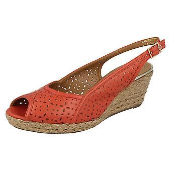 Damer Van Dal Peep Toe kile sandaler Katherine