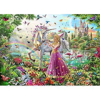 Prinsessen og the Unicorn Poster trykk av Adrian Chesterman