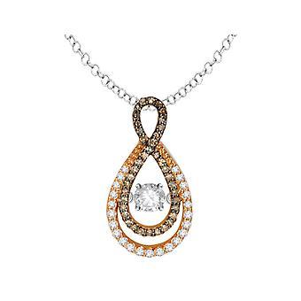 Glittering Stars Dancing Diamond Infinity Pendant 2/5 (ctw) 14K Rose Gold with Chain