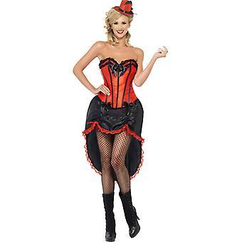 Burlesque Dancer Kostüm Tänzerin Erotik Kleid schwarz rot Damen