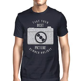 Neem uw beste foto Vintage zomer van unieke grafische Tshirt voor mannen