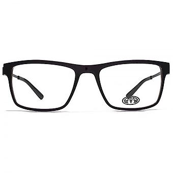 Animal Dale Large Rectangle Acetate Glasses In Dark Purple