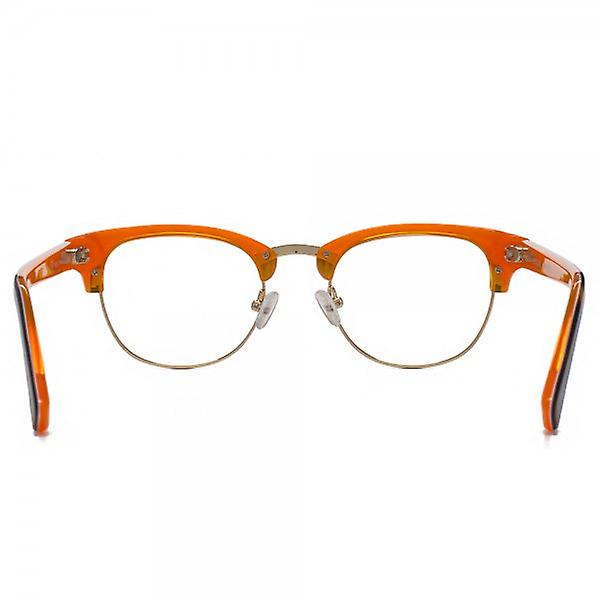 Hook LDN Novello Glasses In Tortoiseshell On Orange