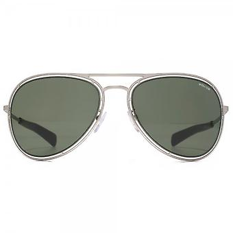 Police Aviator Sunglasses In Matte Palladium