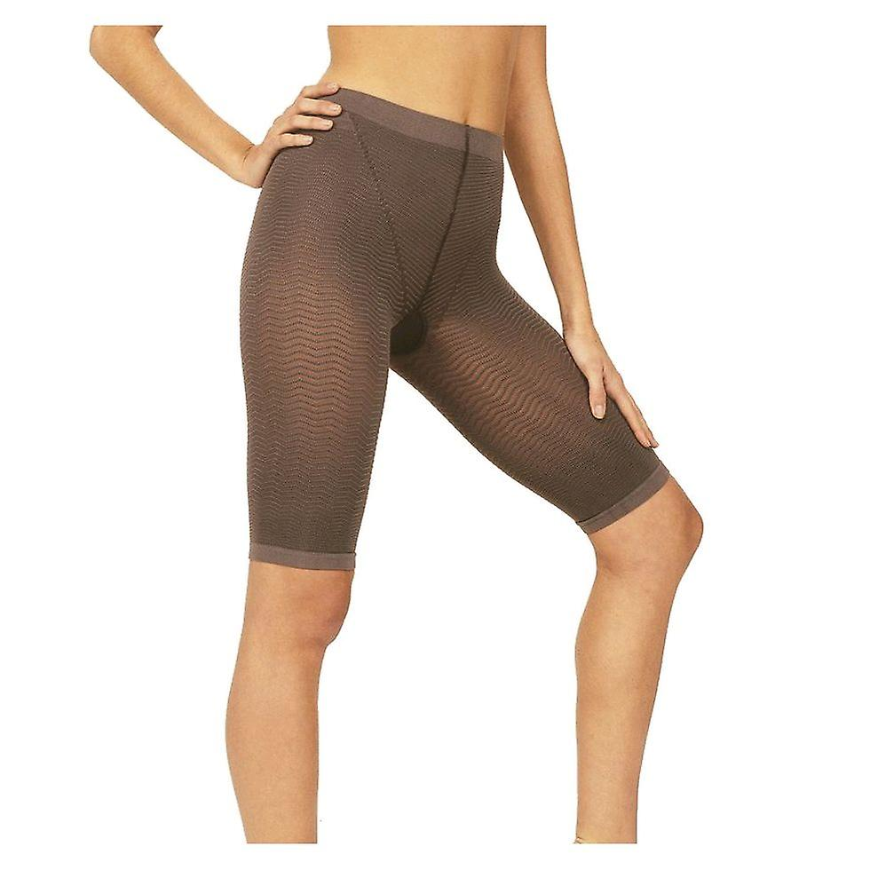 Solidea Silver Wave Strong Ladies Compression Shorts [Style 357A5] Noisette (Dark Beige)  XXL