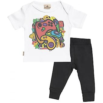 Spoilt Rotten Gamer Babygrow & Jersey Trousers Outfit Set
