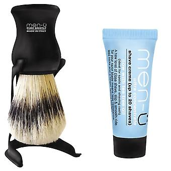 Men-U Barbiere Black Shaving Brush & Stand