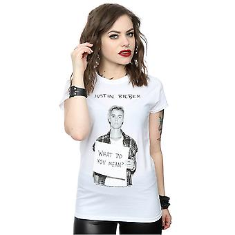 Justin Bieber Women's What Do You Mean T-Shirt