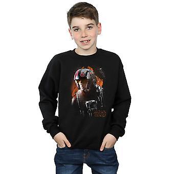 Star Wars Boys The Last Jedi Poe Dameron Brushed Sweatshirt