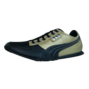 Puma Biker 5000 M2 Mens Leather Trainers / Shoes - Gold