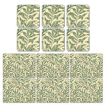 Pimpernel Willow Boughs Green Placemats and Coasters Set