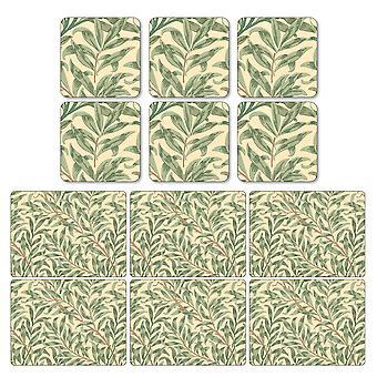 Dværg Willow grene grøn dækkeservietter og Coasters sæt