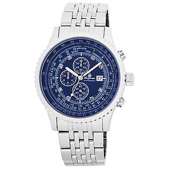 Burgmeister BM320-131 Savannah, Gents watch, Analogue display, Chronograph with Citizen Movement - Water resistant, Stylish stainless steel bracelet, Classic men's watch