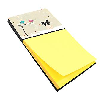 Christmas Presents between Friends Papillon Black White Sticky Note Holder