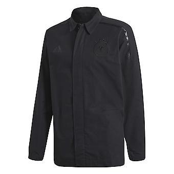 2018-2019 Germany Adidas ZNE Woven Anthem Jacket (Black)