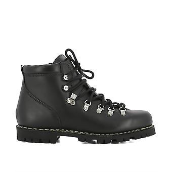 Para boot men's 074612 black leather ankle boots