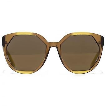 Marc Jacobs Cutting Edge Geometric Sunglasses In Brown Honey