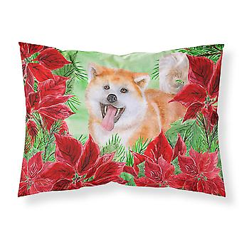 Akita Poinsettas Fabric Standard Pillowcase