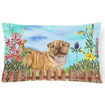 Shar Pei Puppy Spring Canvas Fabric Decorative Pillow