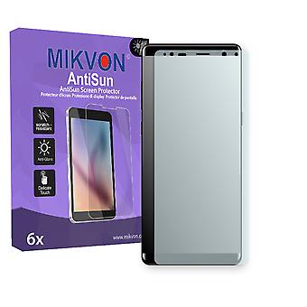 Samsung Galaxy Note 8 Screen Protector - Mikvon AntiSun (Retail Package with accessories) (intentionally smaller than the display due to its curved surface)