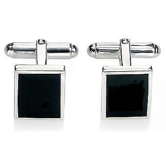 925 Silver Black Agate Fashionable Cufflink